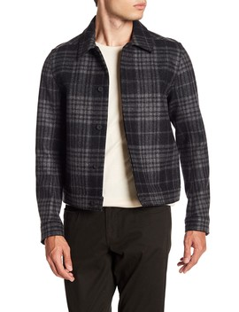 Wool Plaid Trucker Jacket by Vince