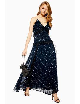 Petite Lace Metallic Thread Maxi Dress by Topshop