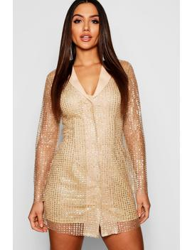 Sequin Blazer Dress by Boohoo