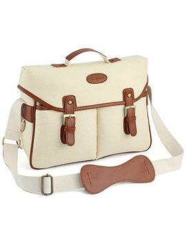 Kattee Unisex's Pu Leather Canvas Dslr Camera Shoulder Bag by Kattee