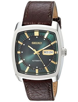 Seiko Men's Solar Recraft Stainless Steel Leather Strap Watch by Seiko