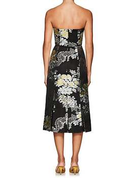 Leora Floral Jacquard Strapless Dress by Erdem