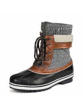 Dream Pairs Women's Mid Calf Winter Snow Boots by Dream Pairs