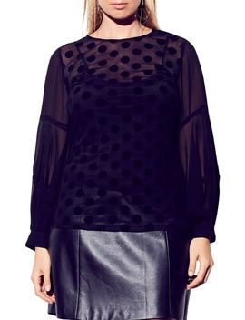Flirty Flock Top by City Chic