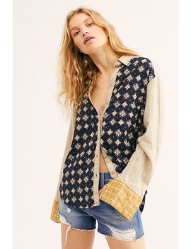 We The Free Live Moroccan Midnight Buttondown by Free People