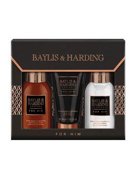 Baylis & Harding Men's Black Pepper & Ginseng Small 3 Piece by Baylis & Harding