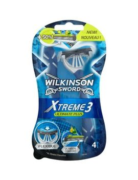Wilkinson Sword Xtreme 3 Ultimate Plus Men's Disposable Razors X4 by Wilkinson Sword