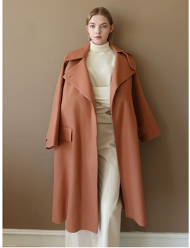 Handmade Oversize Trench Coat   Pink by Le