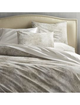 Ostin Neutral Full/Queen Duvet Cover by Crate&Barrel