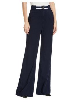 Maldon Belted High Rise Wide Leg Pants by Veronica Beard