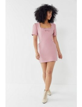 Uo Claudia Corduroy Square Neck Mini Dress by Urban Outfitters