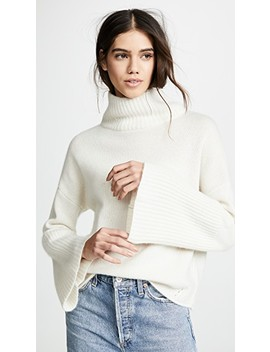 Lulu Cashmere Turtleneck Sweater by 360 Sweater