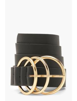 Double Gold Ring Belt by Boohoo