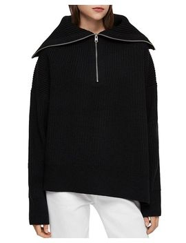 Ami Zip Front Sweater by Allsaints