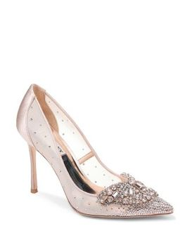 Women's Quintana Glitter & Mesh High Heel Pumps by Badgley Mischka