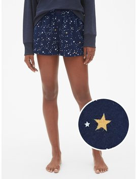 Dreamer Print Flannel Shorts by Gap