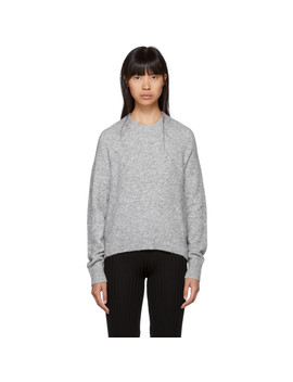 Grey Inset Shoulder High Low Sweater by 3.1 Phillip Lim