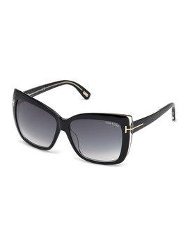 Irina Square Gradient Sunglasses by Neiman Marcus