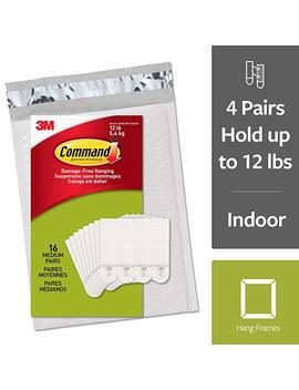 Command Picture Hanging Strips, Medium, White, 16 Pairs (Ph204 16 Es)   Easy To Open Packaging by Amazon