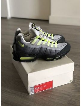 Men's 2014 Nike Air Max 95 Og V Sp Patches Neon Green Black Grey Volt 10.5 by Nike