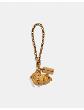 Jeweled Pig Bag Charm by Coach