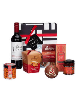 John Lewis & Partners Red Wine And Nibbles Christmas Hamper by John Lewis & Partners