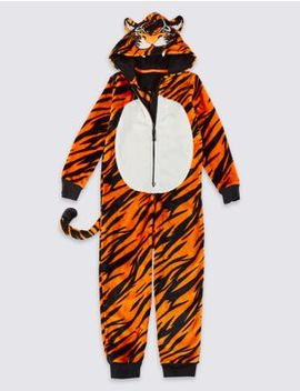 Tiger Fleece Onesie (1 16 Years) by Marks & Spencer
