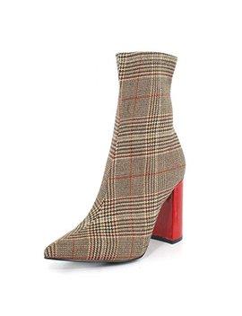 Jeffrey Campbell Women's Siren Block Heel Ankle Booties by Jeffrey Campbell