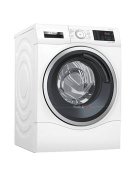 Bosch Wdu28560 Gb Freestanding Washer Dryer, 10kg Wash/6kg Dry Load, A Energy Rating, 1400rpm Spin, White by Bosch