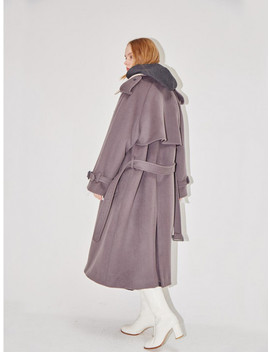 Hambourg Trench Wool Coat Mild Gray Cream by And You