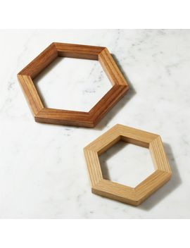 Hexagon Wood Trivets, Set Of 2 by Crate&Barrel