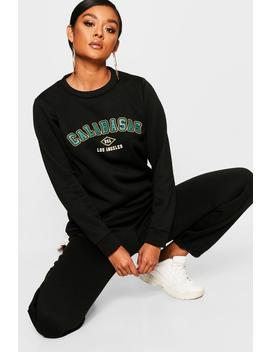 Calabasas Crew Neck Sweat by Boohoo