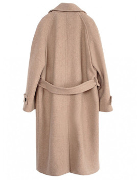 [Women] Double Wool Long Coat Oatmeal by Nominate