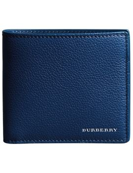 Grainy Leather International Bifold Wallet by Burberry