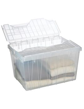 Fliptop Clear Tote, 45 L by Canadian Tire