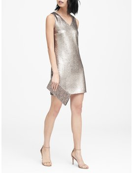 Sequin V Neck Shift Dress by Banana Repbulic