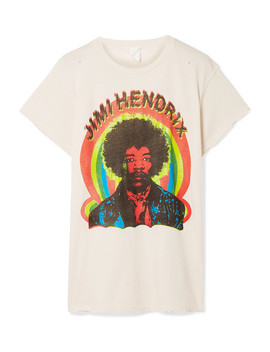 Hendrix Printed Cotton Jersey T Shirt by Made Worn