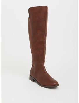Brown Faux Leather Over The Knee Boot (Wide Width) by Torrid