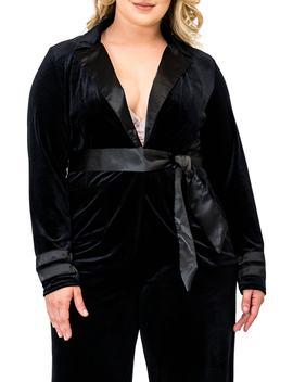 Lottie Velvet & Satin Jacket by Standards & Practices