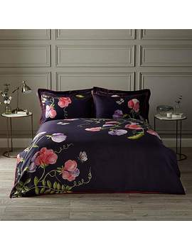 Harris & Hatherly By Jane Abbott Sweet Pea Digitally Printed 100 Percents Cotton Duvet Cover And Pillowcase Set by Dunelm