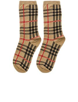 Vintage Check Socks by Burberry