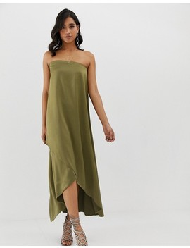 Asos Design Satin Bandeau Maxi Dress by Asos Design