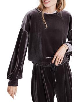 Velvet Balloon Sleeve Sweatshirt by Madewell