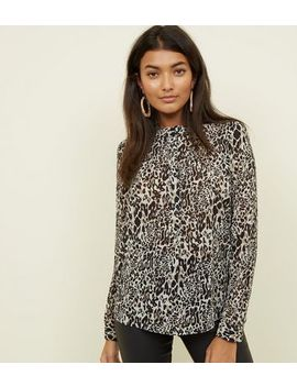 Jdy Brown Leopard Print Chiffon Shirt by New Look