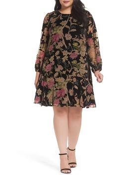 Burnout Velvet A Line Dress by Eliza J