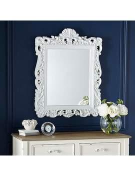White Ormolu Highlife Mirror by Dunelm