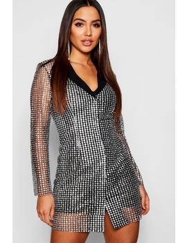 Sequin Blazer Dress by Boohoo