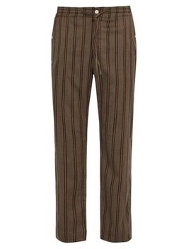 Striped Twill Trousers by Needles