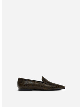 Printed Leather Loafers by Uterqüe