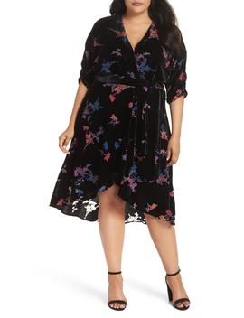 Velvet Tie Waist Dress by Eliza J